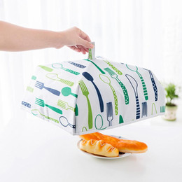 Wholesale foiled fabric - Home Dustproof Foldable Insulated Food Cover Waterproof With Aluminu Foil Oxford Fabric Table Covers Kitchen Tool NNA148