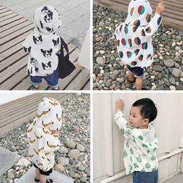 Giacca per bambini Bobo Choses 2018 Summer Boys Cappotti Ball Banana Stampa Neonate Bambini Protezione solare Abbigliamento Cotone minuscolo cheap banana baby clothing da abbigliamento per bambini di banana fornitori
