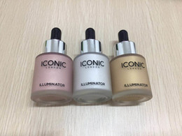 Wholesale Gold Moon - In Stock!!! ICONIC LONDON ILLUMINATOR liquid highlight 6 colors glow shine original Moon Beam 24K Gold lrie Rose dropshipping