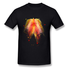 Progettando magliette di vendita online-Maglietta a maniche corte T-shirt 3XL Design Hot Hombre 100% Cotton Rise of the Phoenix T-Shirt Hombre O Collo manica corta bianca Top