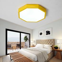Illuminazione a soffitto della cucina rotonda online-Lampada da soffitto a LED dimmerabile per bambini Camera da letto Soggiorno Cucina Illuminazione Plafoniera a soffitto con telecomando