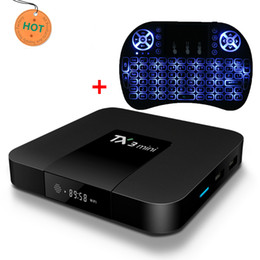 Wholesale hd software - 2018 s905W Android TV Box newest Software Streaming TX3 mini 2GB 16GB 4K Smart TV Box Wireless Keyboard Combo