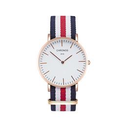 Argentina 40mm Reloj de banda redonda de nylon Reloj deportivo Unisex Accesorio externo Necesario Sin prueba de agua Reloj de pulsera Batería Suministro
