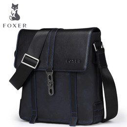 foxer brand handbags Coupons - FOXER Brands Men's Cow Genuine Leather Bags Casual Male Business Shoulder Bag Handbag For Men