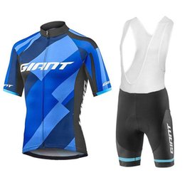 Wholesale Giant Bib Shorts Jersey - Giant 2018 Cycling Jerseys Wit 9D Gel Padded Bib Shorts Bike Wear Short Sleeves Millot Ciclismo Size XS-4XL Bicycle Clothing