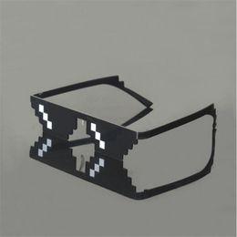 Wholesale mosaic mix - 2017 New Deal with it Glasses Thug Life Glasses Pixel Women Men Sunglasses Black Mosaic Sun Glasses