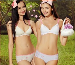 Wholesale Half Age - cotton Students development bra thin pure back buckles plus size wireless Middle-aged and elderly bra young girl classic