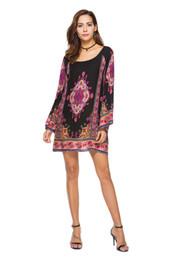 Compra retro on-line-Europeu e americano étnica retro barroco impressão posicionamento flor original vestido das mulheres frete grátis compra quente