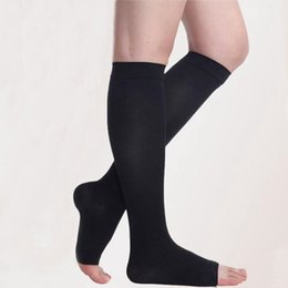 6e78c28c7 open toe compression socks Canada - wholesales Compression Socks for Men  Open Closed Toe Socks Leg