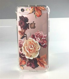 Wholesale Plastic Flowers Design - Floral Printed Flower Clear Design Transparent Plastic Case with TPU Bumper Protective Cover for Apple iPhone 7 8(4.7 Inch)