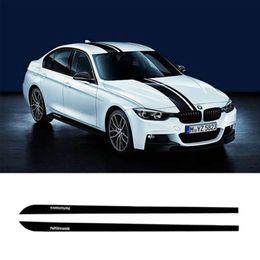 Lill bmw on-line-Saia Soleira Decalque Side Stripe 2pcs M Performance Etiqueta para BMW Série 3 F30 F31