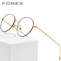 Wholesale pure titanium eyeglasses - Pure Titanium Glasses Frame Men Retro Women Round Prescription Eyeglasses New Harry Vintage Potter Myopia Optical Frames Eyewear