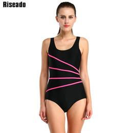 3ca0c47c213b7 Riseado 2017 One Piece Swimsuit For Training Racing Swimwear Women Striped Sport  Swimming Bathing Suits Bodysuit