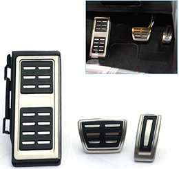 vw аксессуары для гольфа Скидка Xyivyg автомобильные аксессуары из нержавеющей стали автомобиль ног топливный тормоз остальные сцепления на педали пластина Крышка для VW GOLF 7 GTi MK7 LHD