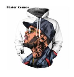 Mujeres más sudadera con capucha del marrón online-Jersey de moda Chris Brown 3D impresión sudadera con capucha mujeres / hombres con capucha hip hop tops de ropa más tamaño 4XL 5XL