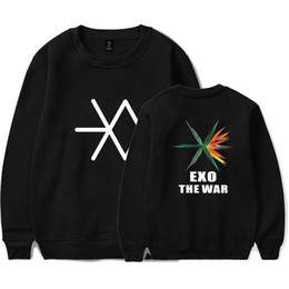 Wholesale Exo K - LUCKYFRIDAYF K-POP EXO New Album THE WAR Capless Sweatshirt Women Korea Popular Idol K-pop Mens Capless Sweatshirt Closthes 4XL
