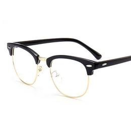 ef2632af1d7 2018 Classic Rivet Half Frames Eyeglasses Vintage Retro Optica Eye Glasses  Frame Men Women Clear Spectacle Frame Eyewear oculos de grau