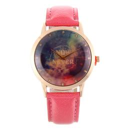 Wholesale Korean Star Glasses - New star space universe space Department watch Lady belt simple leisure Korean fashion quartz watch