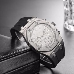 top Großhandel Billig Preis Herren Sport Armbanduhr 40mm Quarzwerk Männliche Uhrzeit Uhr mit Gummiband offshore uhren von Fabrikanten