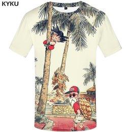magliette di hip hop d'epoca Sconti KYKU Marca Dragon Ball T Shirt 3d T-Shirt Anime Uomo T Shirt Divertente T-Shirt Hip Hop 2017 Abbigliamento uomo giapponese Abbigliamento Vintage