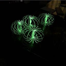 Brinquedo para crianças on-line-Torofluxus noctilucent Flow Ring LED luzes da noite Incrível Fluxo Brinquedos Kinetic Primavera crianças brinquedo Crianças Holográfica Em Movimento Cria Anel Mágico