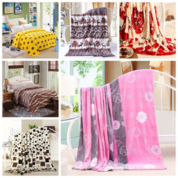 Wholesale Cheap King Beds - Cheap 200x230cm Hot sale big size cat brand Blankets for beds fleece warm winter sleeping sofa blanket plaid bedspreads for girl