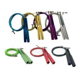 Palla di corda online-Corda per saltare professionale Corda per saltare Crossfit Corda per saltare regolabile Allenamento Corde per saltare in alluminio Fitness Velocità Salto Allenamento T