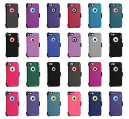 étui de protection pour iphone Promotion Pour iPhone X 6 6s 8 7 plus étui de protection résistant Defender Étui Samsung Galaxy Note8 S9 plus Venez avec Clip / Holster