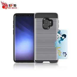 Wholesale Suitcase Card - High End Brushed Technic Card Suitcase For Samsung S7 Case Cell Phone Accessories S8 S7Edge S8Plus S9 S9Plus Trending