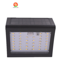 Wholesale Led Driveway Lighting - Solar Powered LED Wall Light Outdoor Waterproof Security Lights PIR Motion Sensor Solar Wall Lamp for Garden Patio Driveway 38led