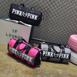 Wholesale Shoulder Bag Knitting Pattern - 2018 Hot Outdoor girl women Sport Multi function Crocodile pattern Gym Fitness Training Shoulder hand bag Travel excursion package 180126015