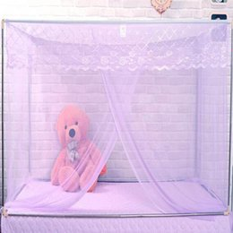 Wholesale Doors Canopy - Dormitory Students Mosquito Nets Curtains Bed Canopy Quadrate Bandage Dustproof Single-door Net Home Moustiquaire para cama