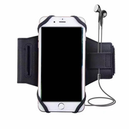 Wholesale Plastic Octopus - General Armband Leather Sports Running Case For Iphone X 8 7 6 Plus S9 S8 Magnetic Suction Bracket For Car Kickstand Octopus Arm Band Bags