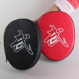 Wholesale Target Pads Boxing - Boxing Training Five Fingers Gloves Hook Jab Focus Punch Pad Adjustable Taekwondo Karate Target Durable Red Black 10md B