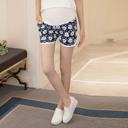 76f6ccbb467fe Summer Flower Shorts for Maternity Ultra Thin Hot Pants for Pregnant Women  Short Trousers of Pregnancy Care Belly Clothes C187