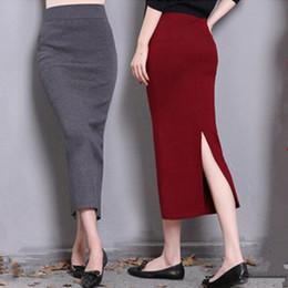 Wholesale Plus Size Pencil Skirts Green - 2017 Autumn Winter High Waist Midi Lenght Tight Skirt Bodycon Pencil Skirts Elegant Womens Office skirts plus size XS-5XL 6XL