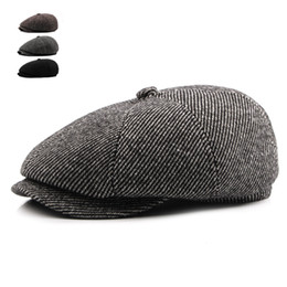 3ffc9ddbe5d53 Tweed Gatsby Autumn Winter Newsboy Cap Men Wool Ivy Hat Golf Driving Cabbie  Flat Unisex Berets Hat Peaky Blinders Hats affordable gatsby caps wholesale