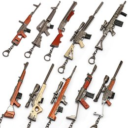 Ametralladora online-Scattergun Llavero Juego Fortaleza Noche Batalla Royale Rifle Ametralladora Modelo Llaveros Fans Regalo de recuerdo Juguetes para niños Adultos