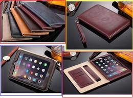 2019 capas resistentes à gota do ipad Premium book estilo pad case para ipad mini 2 3 4 real completo couro stand case 9.7 polegadas ipad pro air 2 capas dobráveis shell