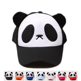 Wholesale ball panda - adult Children Kids Panda Snapback Sun Hat Shade Baseball Cap Women Snapback Caps Gorras Hombre Bone Masculino Casquette