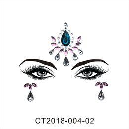 tatuajes femeninos de la muñeca Rebajas Etiqueta engomada cristalina de las mujeres para el partido Decoración de la ceja de la Navidad Cara Ojos Gemas chispeantes 3D Joya Body Art Etapa Maquillaje Decoración Tatuaje temporal