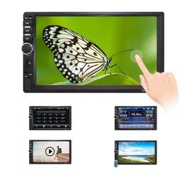 Wholesale mp5 videos - 7018B Car audio 7 Inch 2 DIN autoradio Stereo Touch Screen auto Radio Video MP5 Player Support Bluetooth TF SD MMC USB FM camera