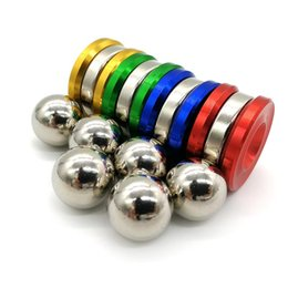 Wholesale Ball Big - Magnetic Fidget Orbiter Spinner with 2 Steel Balls Neodymium Magnets 4 Colors SUS Hand Spinner EDC Novelty Fidget Spinner Decompression Toys