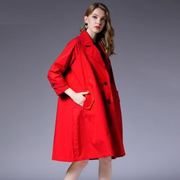 9c6aac32bfb Plus size women loose major suit trench coat temperament fashion Elegant  coat oversize long sleeve High waist solid autumn coats