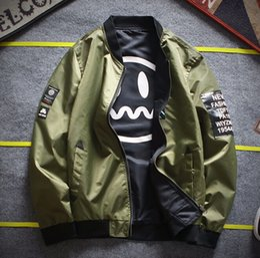 Wholesale Flight Jackets Men - Man's Coat Thickening Flight Jacket Lovers Baseball Cotton Clothes Winter Spring Jacket Size M-4XL