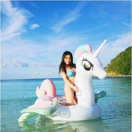 Wholesale Giants Rings - Giant Inflatable Unicron Floats Tubes Pool Swimming Toy Ride-On Pool Unicron Floating Bed Swim Ring for Water Sports CCA9348 5pcs