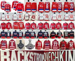 Washington nueva jersey online-2019 New Washington Capitals 8 Alex Ovechkin 43 Tom Wilson 77 Oshie 19 Nicklas Backstrom 70 Braden Holtby 92 Evgeny Kuznetsov Jersey