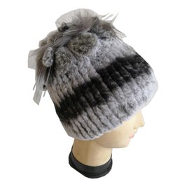 46f01b65224 Handmade Russian Women Real Rex Rabbit Fur Skullies Beanies Hats Fox Fur  Poms Winter Lady Warm Caps Fashion Headgear LF5079 inexpensive ladies russian  fur ...