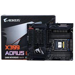 Wholesale gigabyte atx - HOT!NEW Gigabyte X399 AORUS GAMING 7 X399 main board RGB carving AM4 128GB DDR4 AMD CrossFire&SLI ATX standard board module