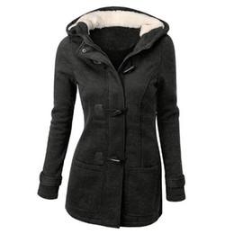 2019 giacca di raso rosa delle ragazze Cappotto di lana con cappuccio in lana di cotone misto spessa con cappuccio in lana misto cotone invernale con fibbia ad angolo